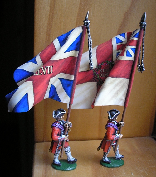 Minden figures with GMB flags.