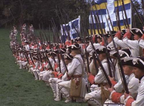 French regiment in the movie 'Barry Lyndon'