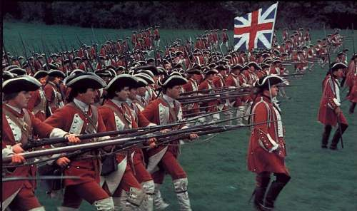 Gale's Regiment of Foot in the movie 'Barry Lyndon'