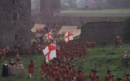 British column marches into camp