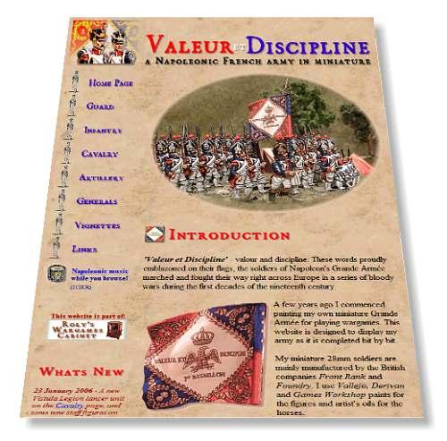 Click on the image to visit my old 'Valeur et Disipline' website