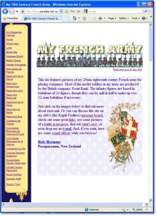 Click here to visit the 'My French Army' website