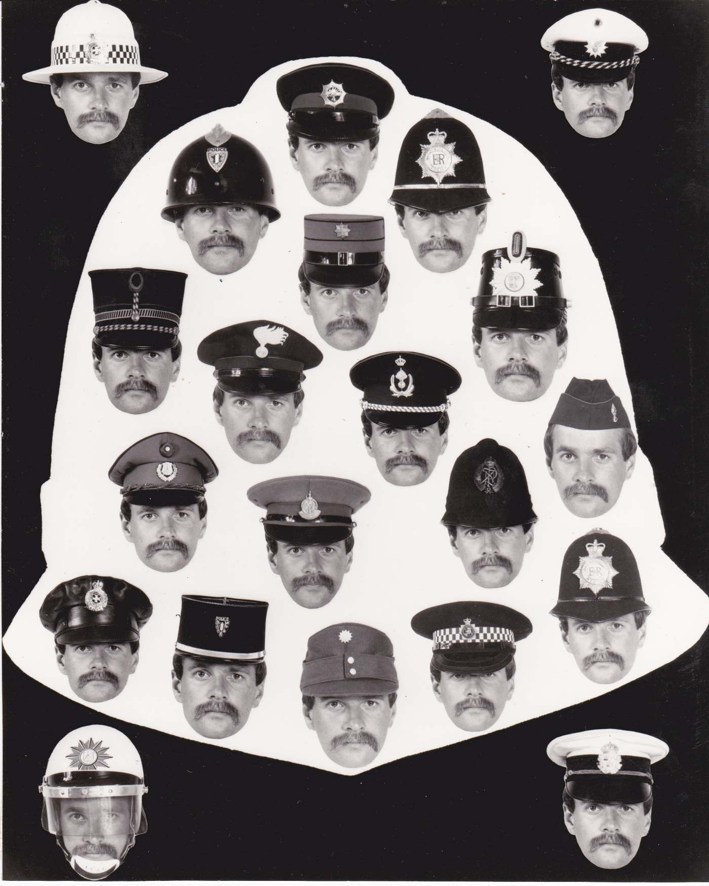Many years ago I used to collect police hats of the world. One of my mates  was a police photographer 2981cd9fa24