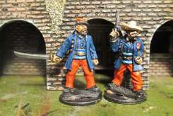 The first two officers I painted.