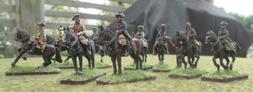 Austrian and Prussian staff,