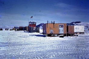 All the airport facilities at Willy Field were bult on sledges so they could be towed away when the sea-ice began to melt.