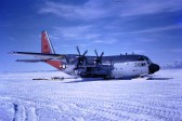 A US Navy ski-equipped Hercules at Willy Field.