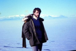 An Antarctic explorer? Nope, just a stroll on the road between McMurdo Station and the New Zealand base, Scott Base.
