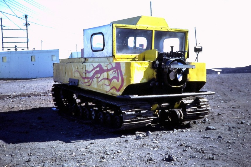 McMurdo Station even had boy-racers! A Weasel, I think ...