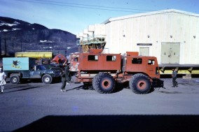 This vehicle was the regular bus service between McMurdo Station, the ice runway at Willy Field, and New Zealand's Scott Base.
