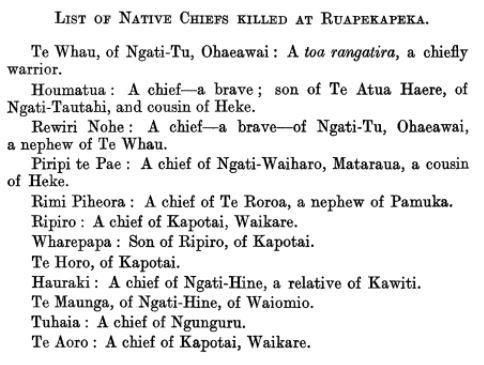 maori losses